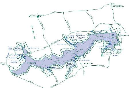 Rocky Fork Lake Map